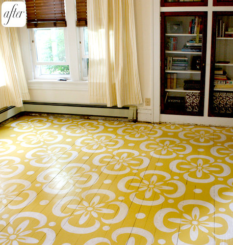Moon to moon diy home painted and stencilled flooring - Suelos de ceramica baratos ...