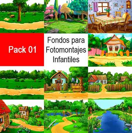 Fondos, Fotomontajes, infantiles, JPG