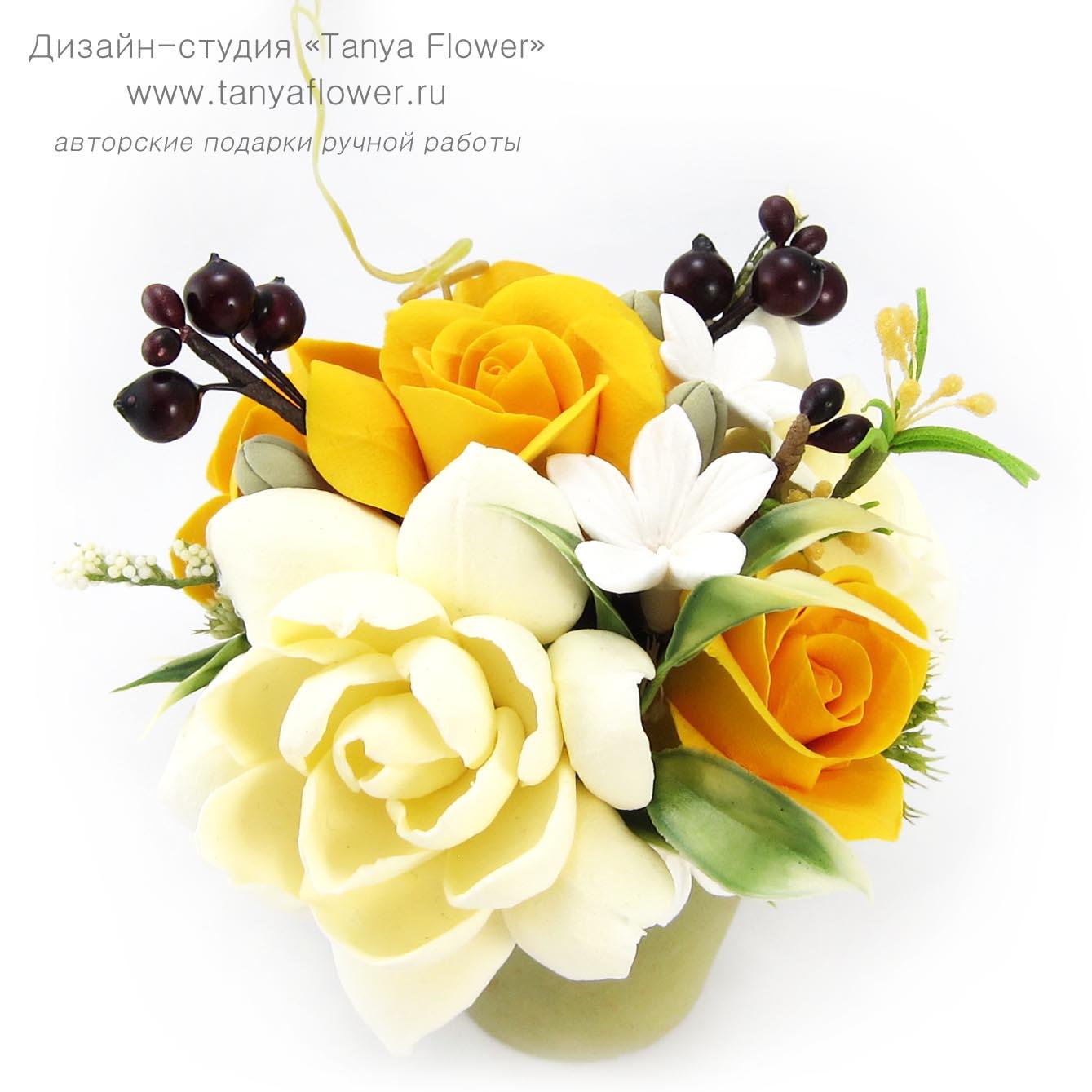 Открытки с желтыми розами