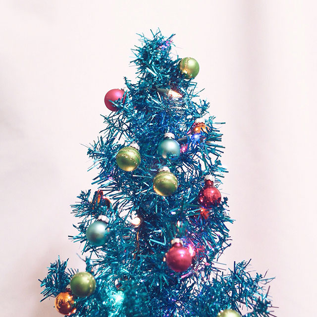 Holiday tinsel, holiday cheer