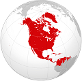 Proposed area of North American technate
