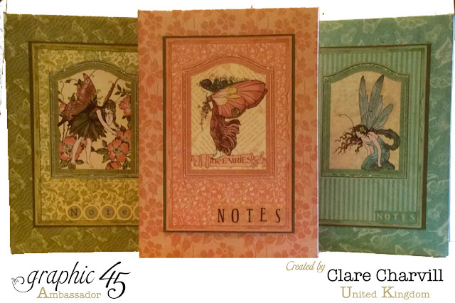 Once Upon a Spring Time Notebook Holders Clare Chervil Graphic 45