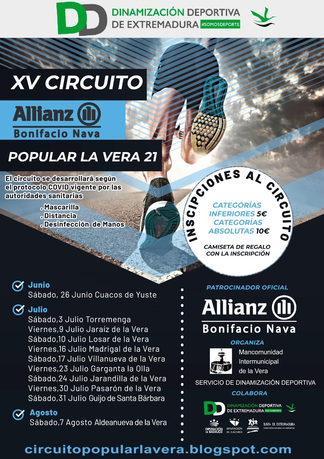 XV EDICIÓN CIRCUITO POPULAR LA VERA