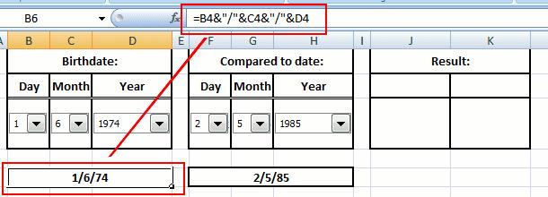 combine date
