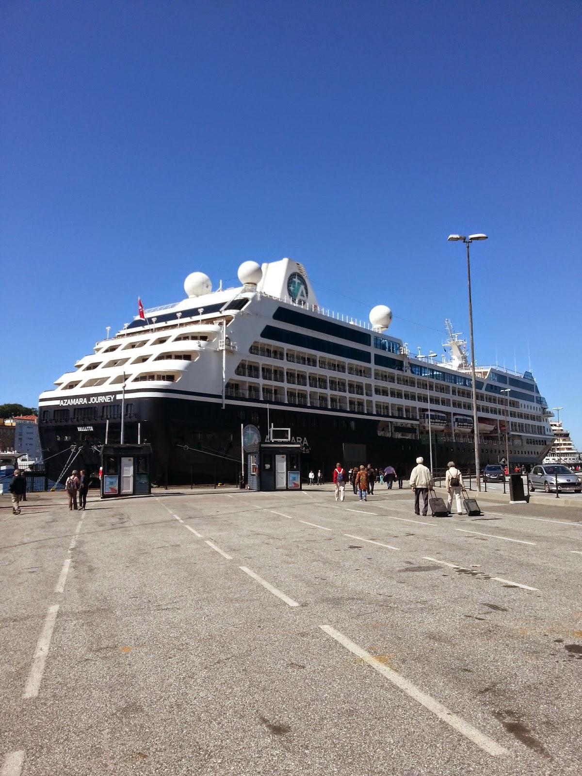 Cruise Ship Azamara Journey (R Six) in Bergen, Norway