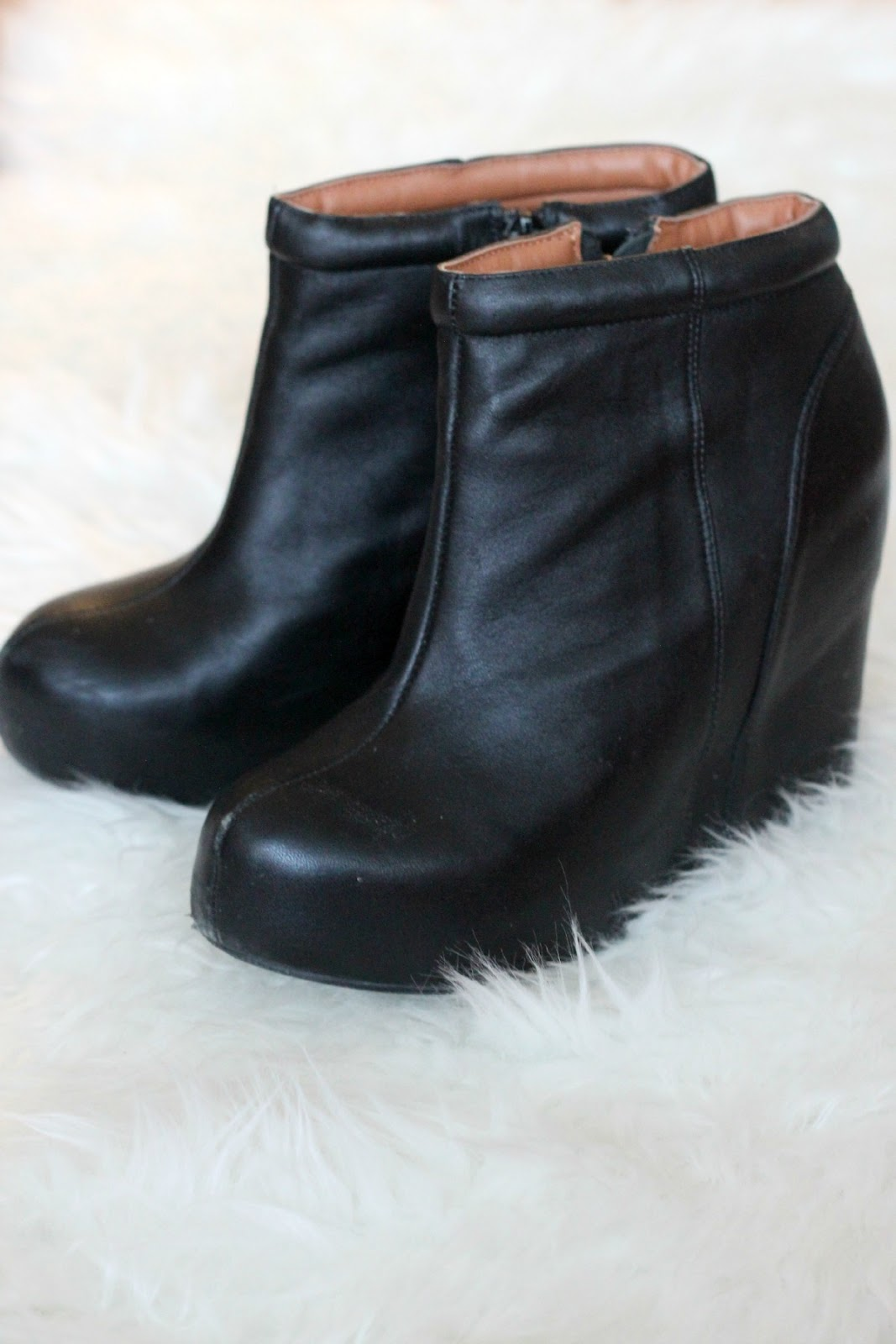 shop monochroma chic aldo ankle wedge boots