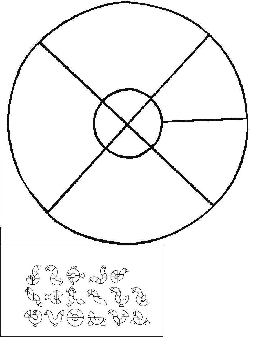 tangram coloring pages - photo#17