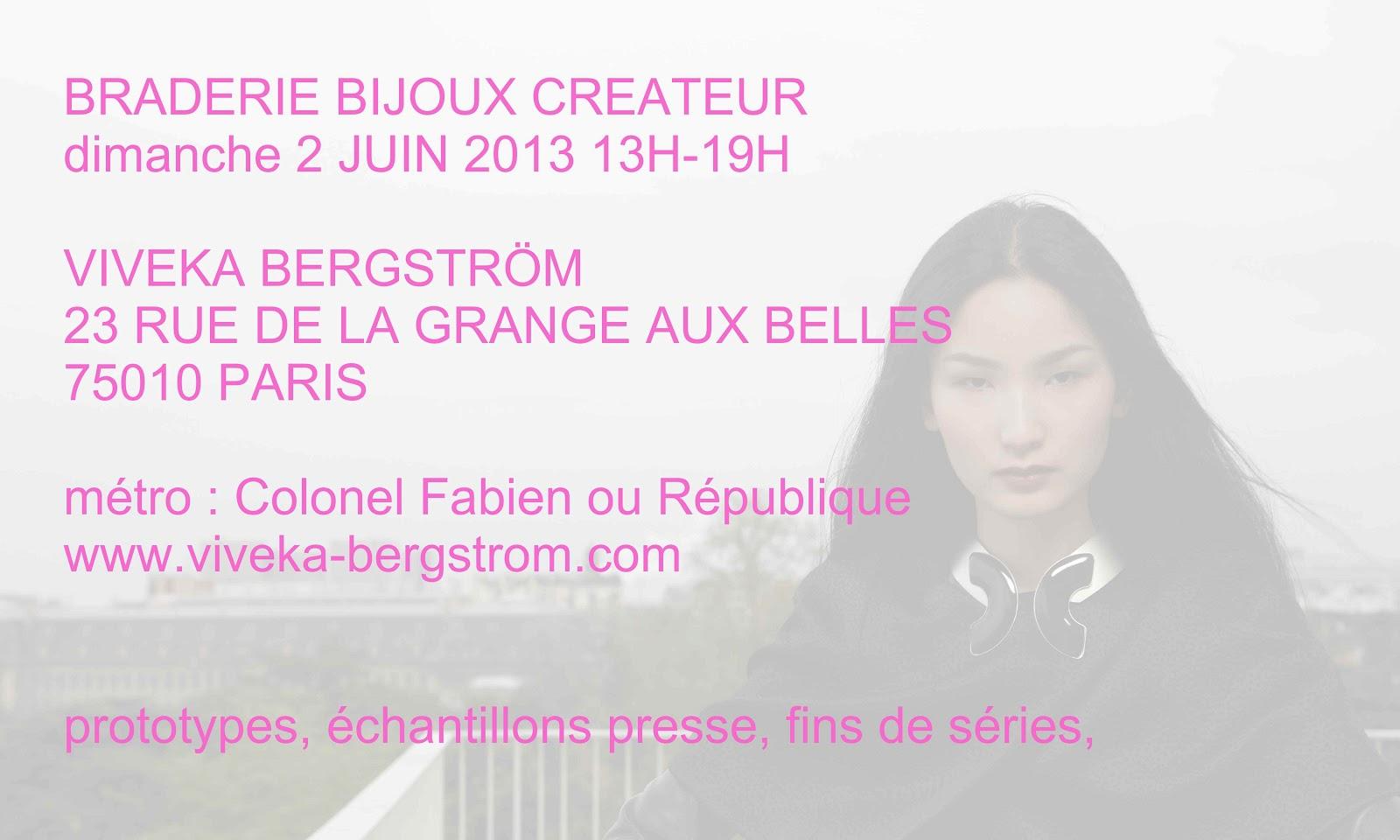 Viveka bergstr m jewelry mai 2013 - 13 rue de la grange aux belles 75010 paris ...