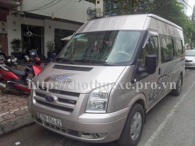 Cho thuê xe du lịch 16 chỗ Ford Transit tại Hà Nội
