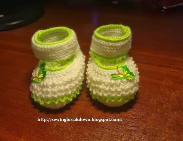 طريقة كروشيه حذاء بنت
