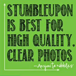StumbleUpon randomly chooses display photos so make sure all of your photos are relevant and engaging. From Anyonita Nibbles