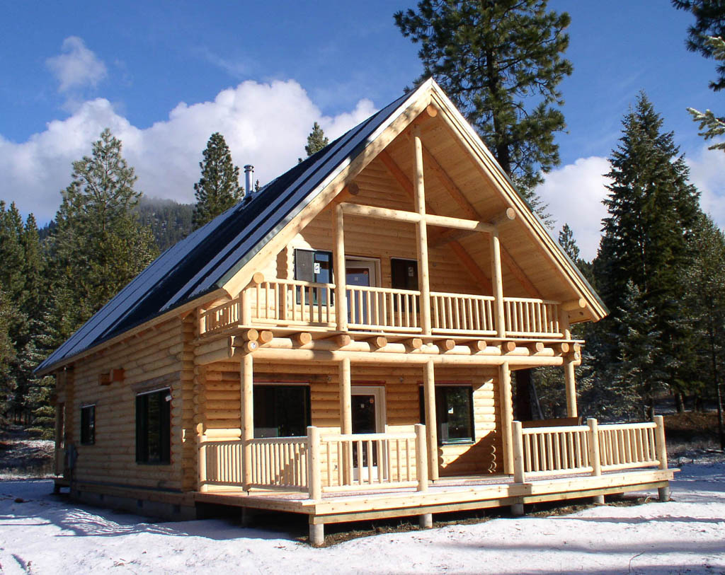 Backwoodsplaid building a log home for Two story log cabin kits