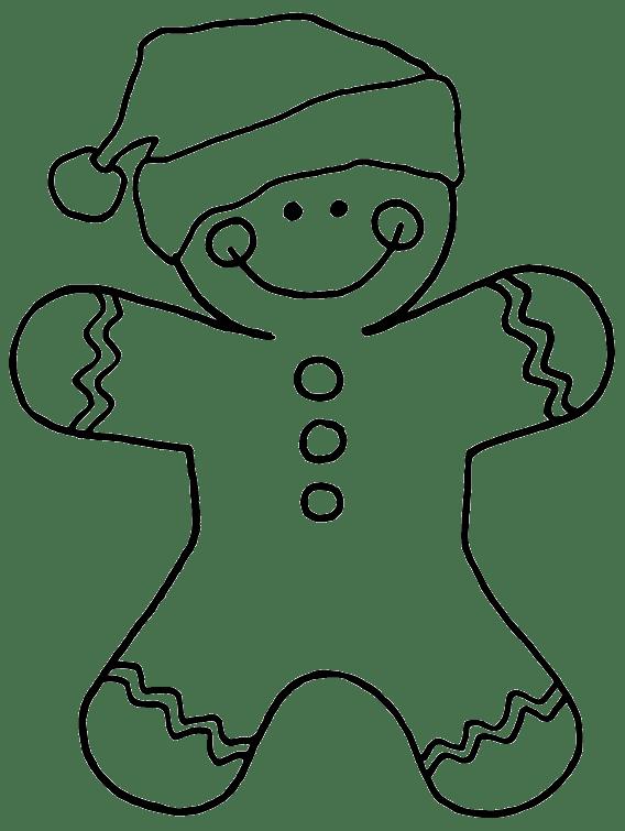 Epic image regarding printable gingerbread man