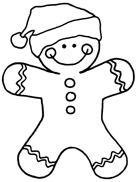 Superb image in free printable gingerbread man