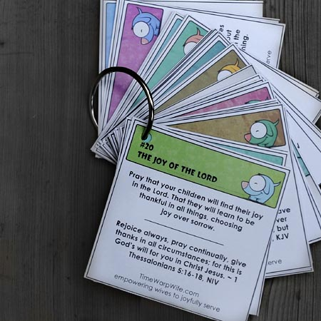 Free Printable Prayer Cards - Time-Warp Wife