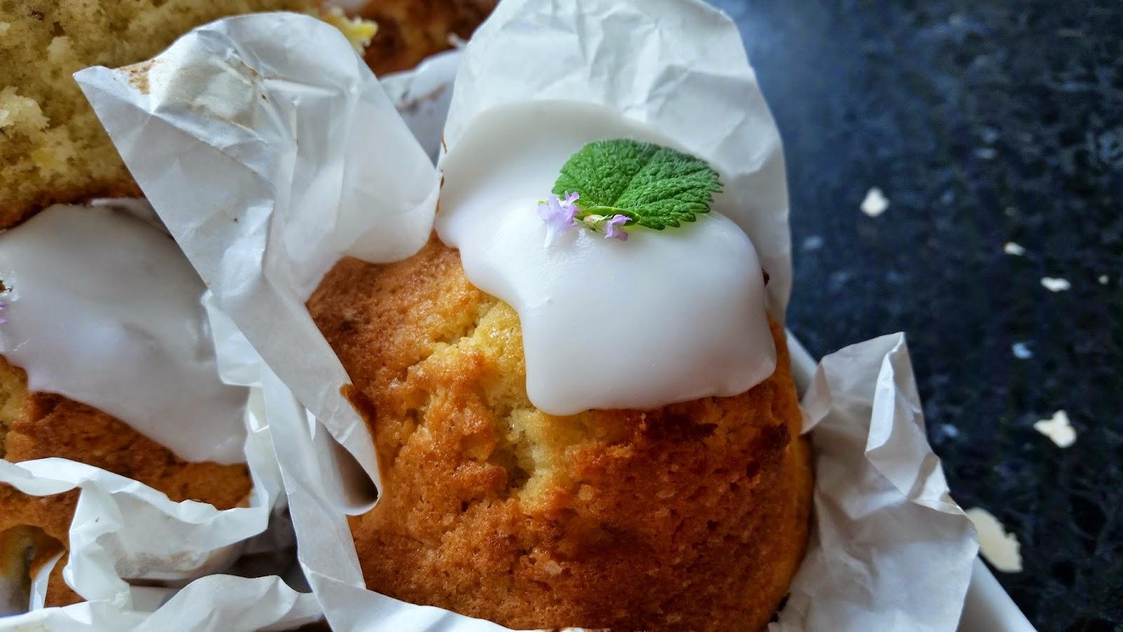 Citron måne muffins
