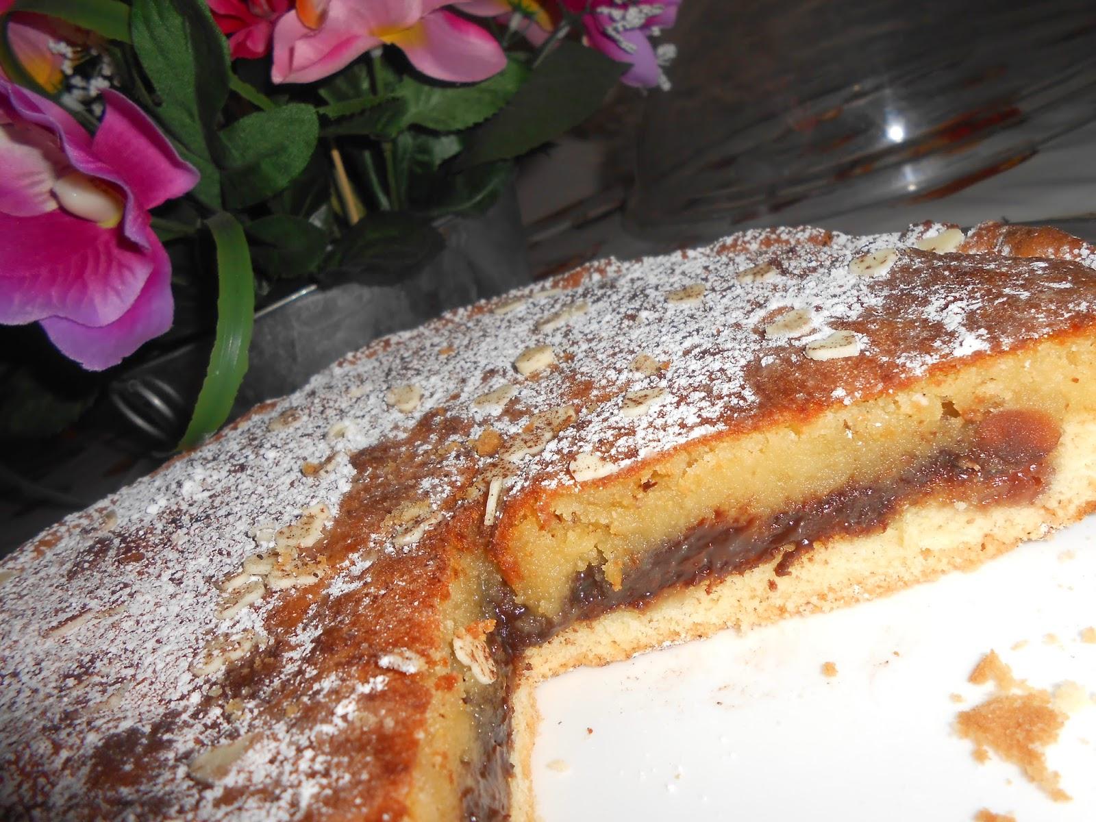 la crostata con crema frangipane e amarene