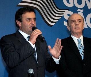 josé Serra e aecio neves inimigos em São paulo