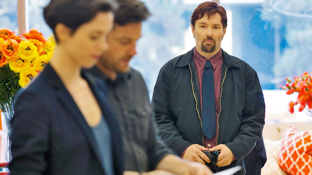 "Joel Edgerton stalks Rebecca Hall and Jason Bateman in ""The Gift"""