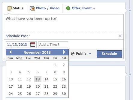 đặt giờ post bài trong facebooko