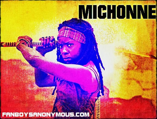 Walking Dead Michonne actress Danai Gurira blaxploitation style poster