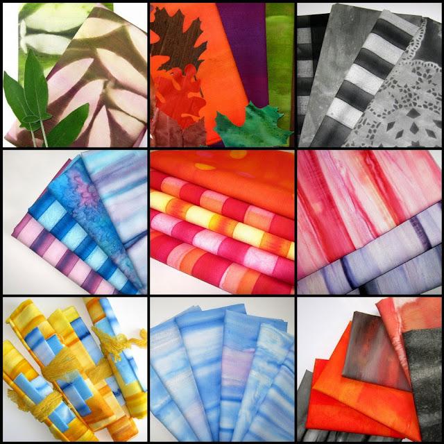 hand painted fabrics