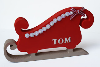 Personalised Christmas Decorations Sleigh Xmas Baby 1st First