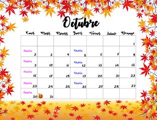 Calendario de actividad