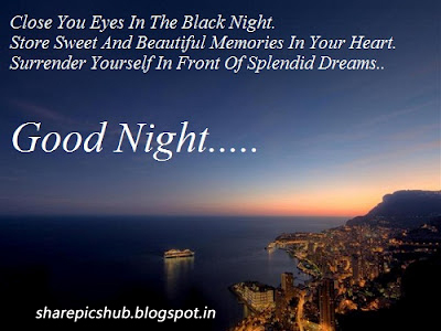 Close Your Eyes The Black Night