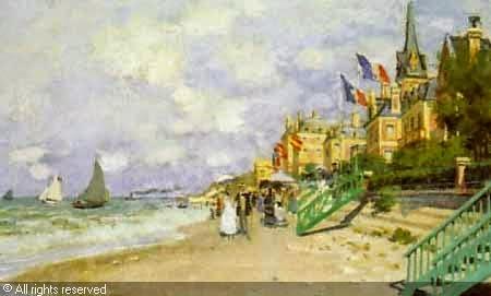 Claude Monet La plage à Trouville.1870 Sotheby's. 2000