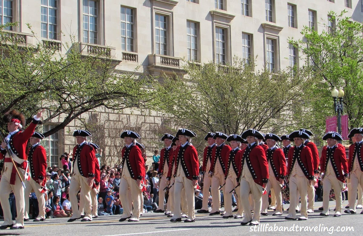 Cherry Blossom parade - marching revolutionary soldiers