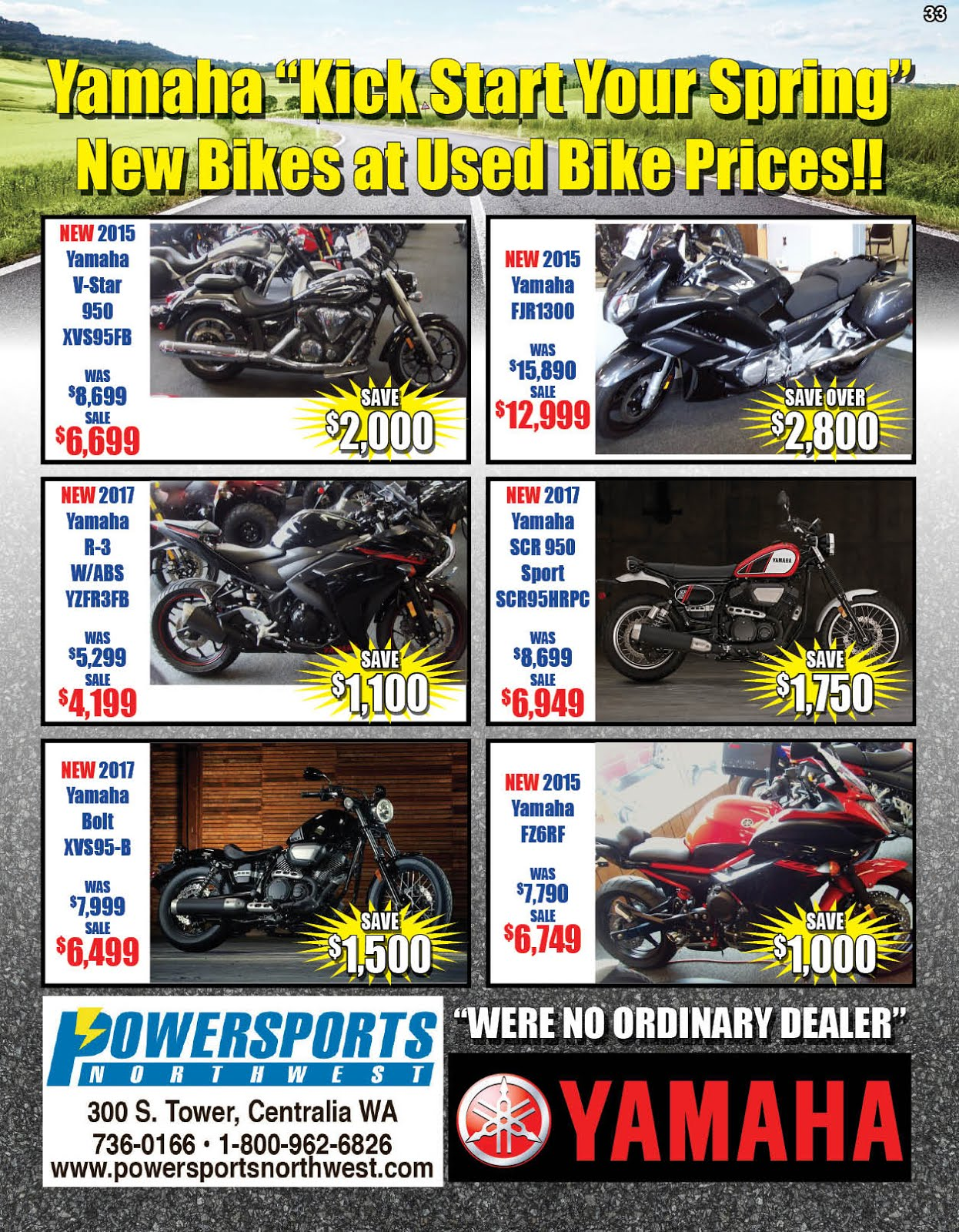 Powersports Northwest YAMAHA SALE!!
