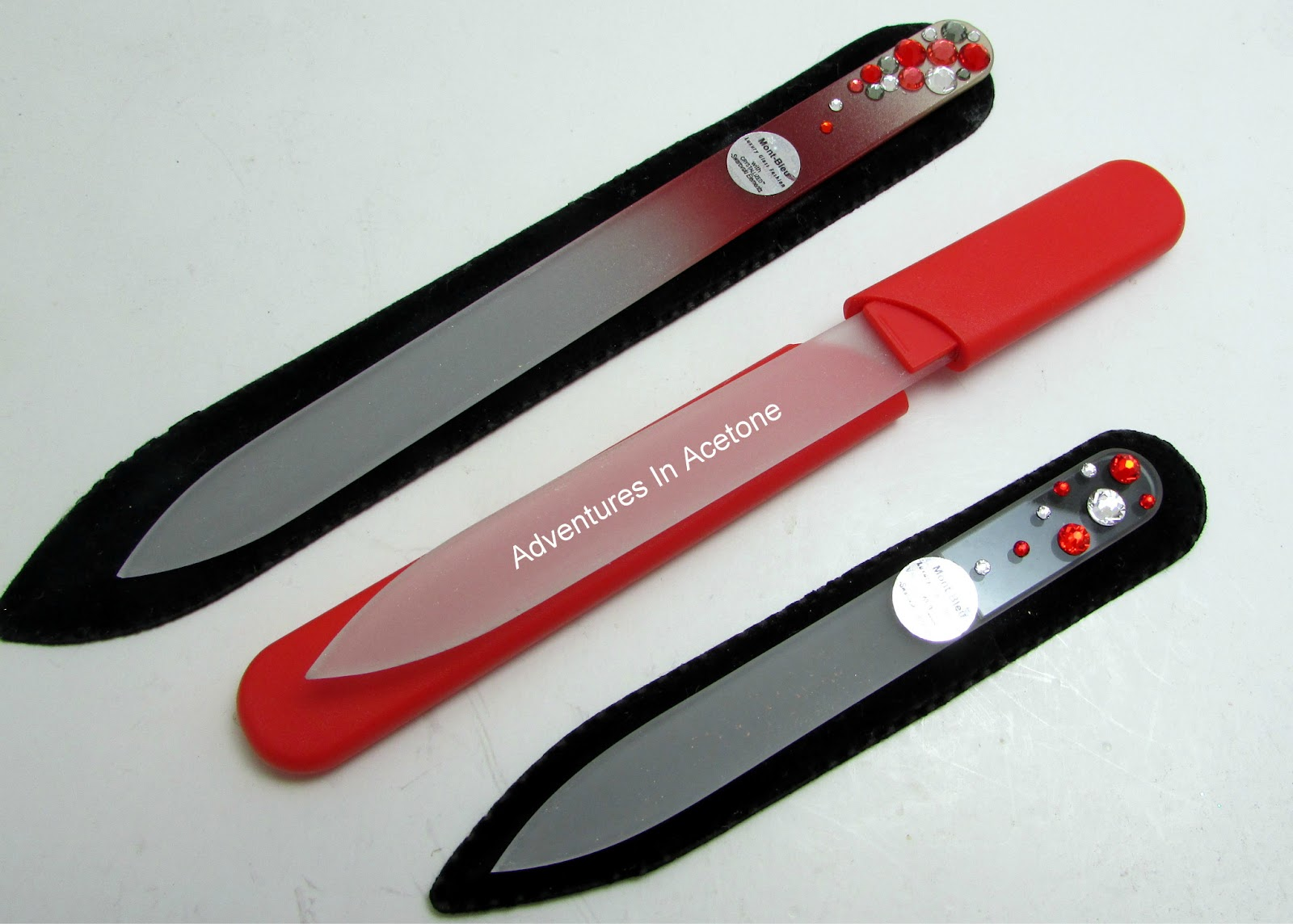 Mont Bleu Glass Nail File Review! - Adventures In Acetone
