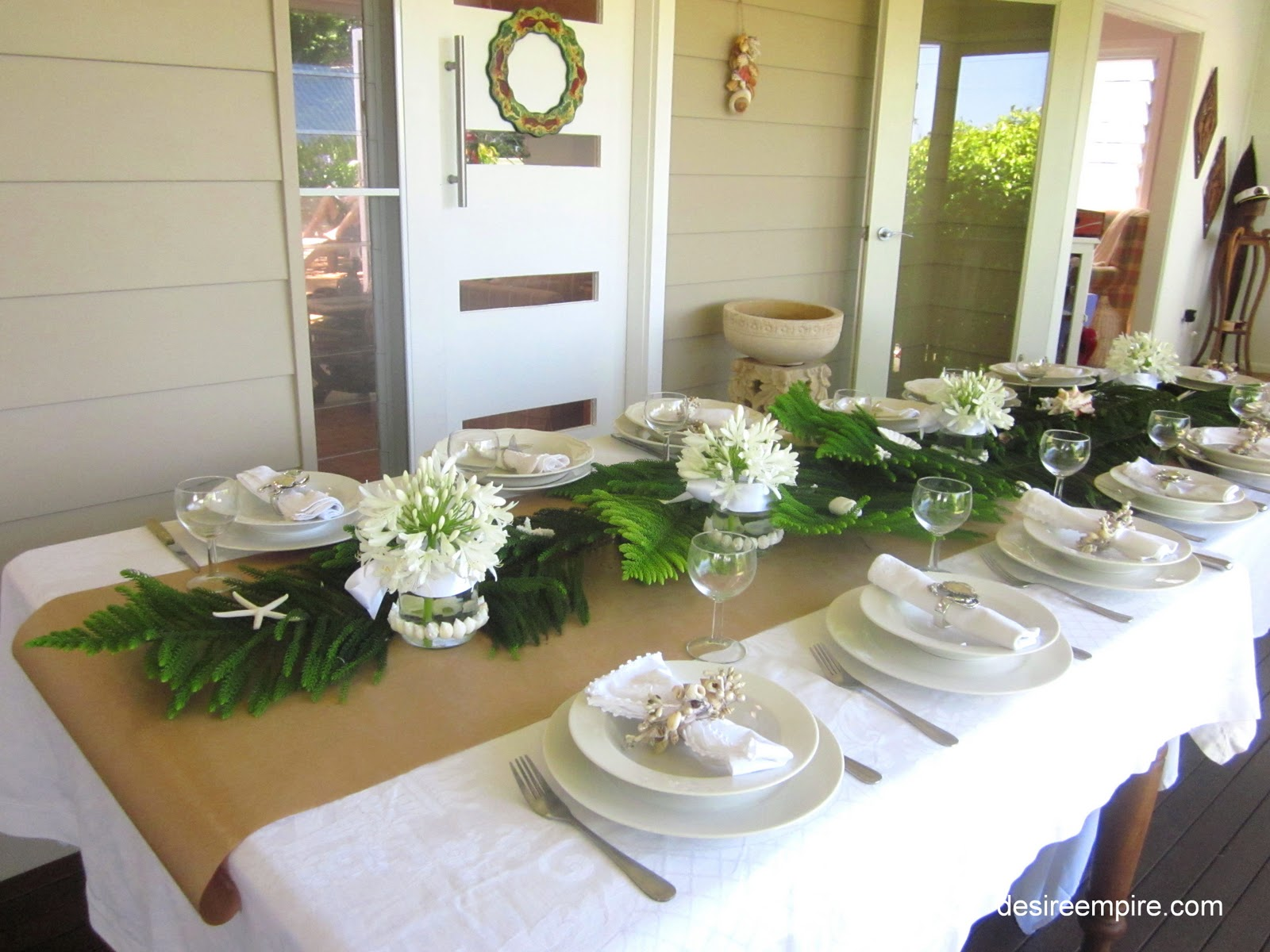 Coastal table in white and on an ikea budget desire empire for Australian decoration ideas