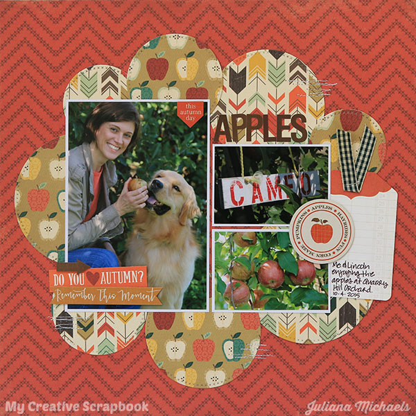 Apples Fall Scrapbook Page by Juliana Michaels featuring My Creative Scrapbook November Main Kit
