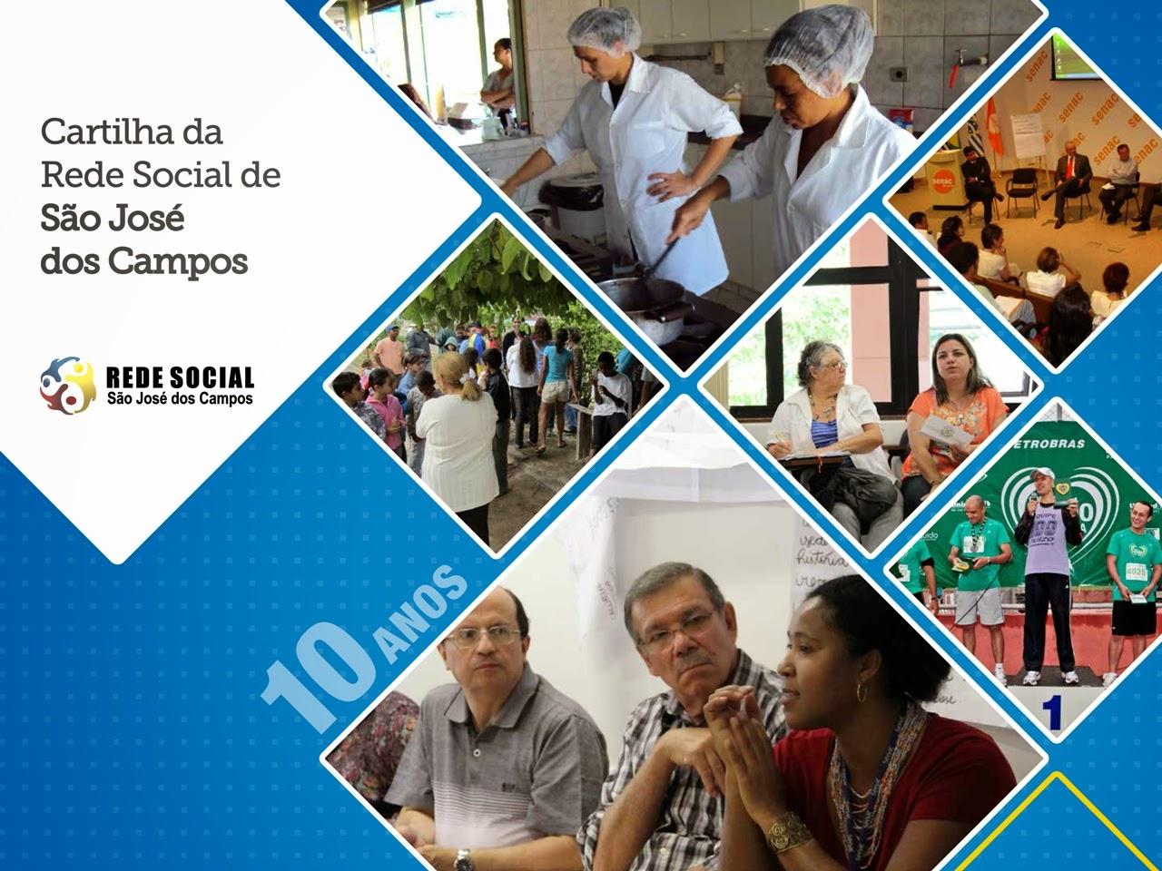 Cartilha de 10 anos da Rede Social de São José dos Campos/SP