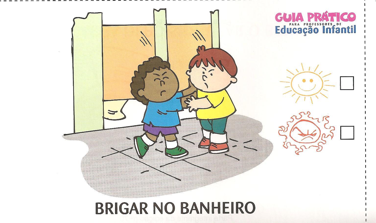 não brigar no banheiro da escola jogar o papel no #BE890D 1536 912