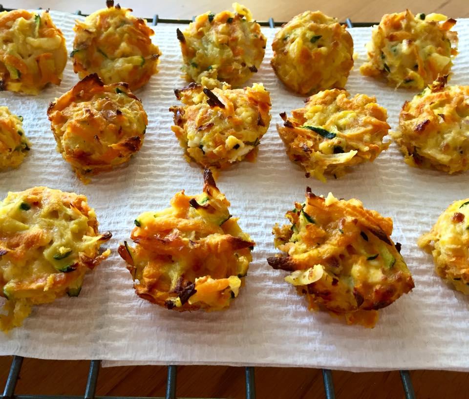 What's Bron Cooking?: Sweet potato, zucchini & feta mini ...