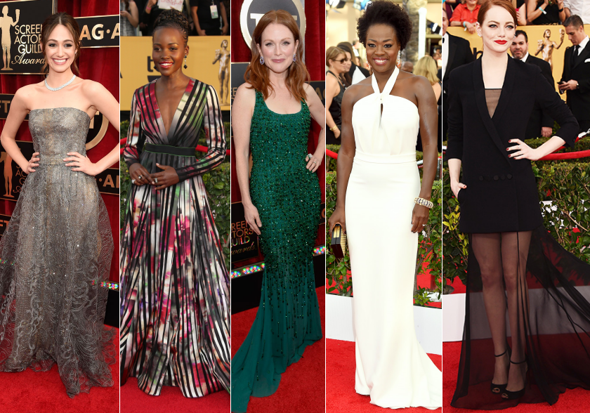 sag awards 2015 best dressed emmy lupita julianne viola emma dresses