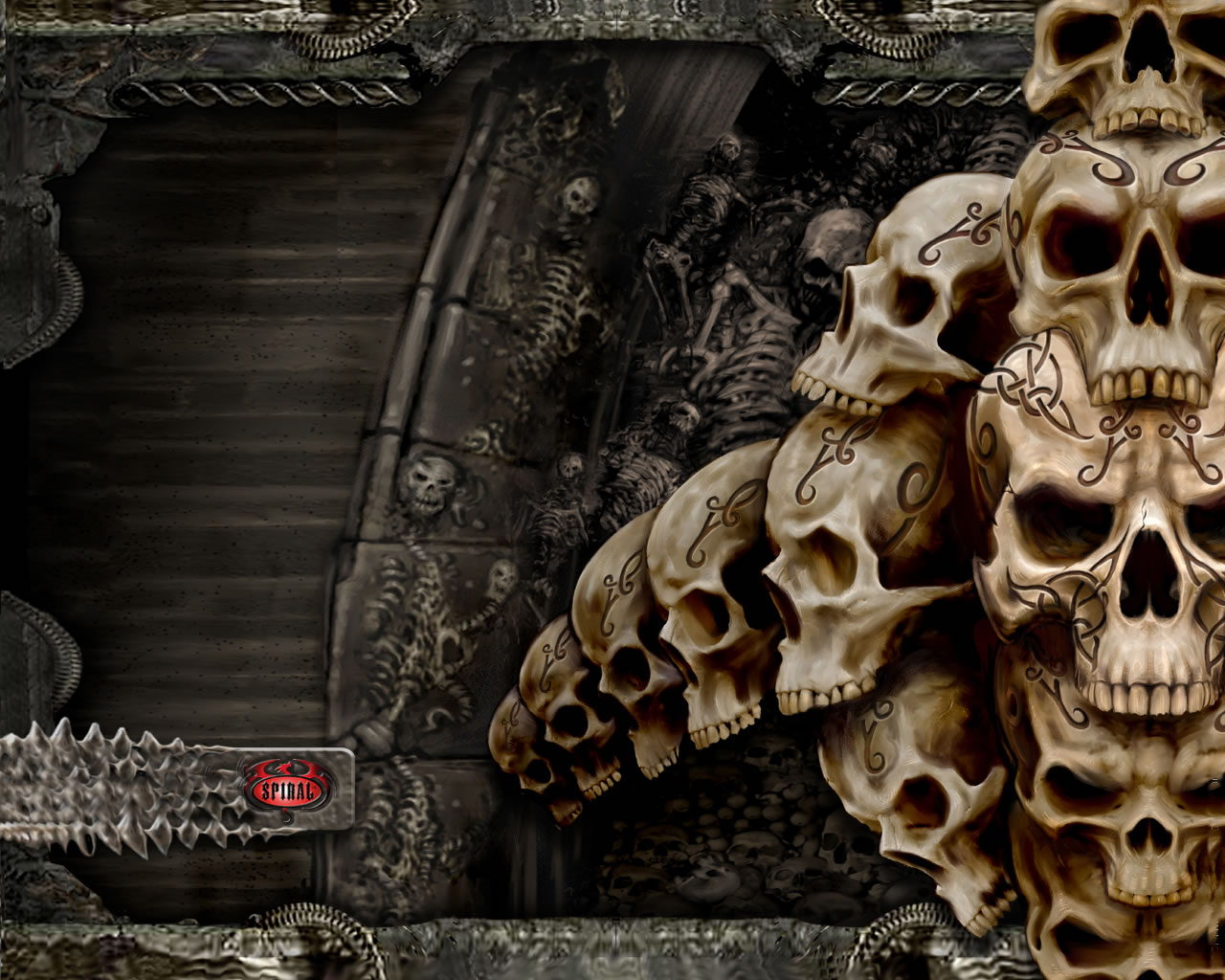 Tag horror wallpapers wallpapers skull horror scream black gothic