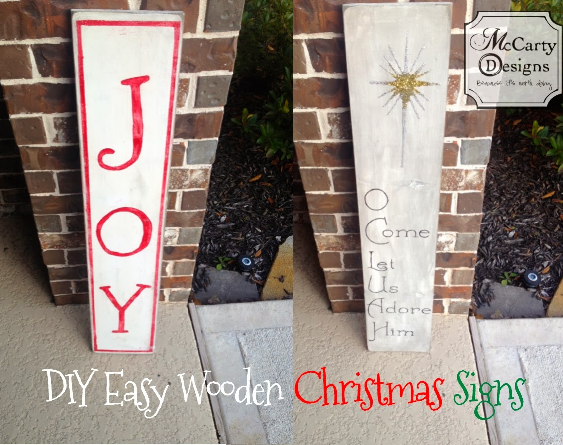 easy diy wooden christmas sign - Wooden Christmas Signs