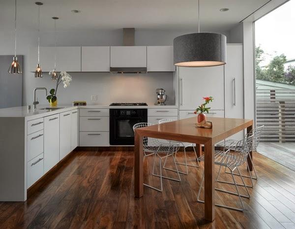desain rumah dapur bentuk l tahun ini