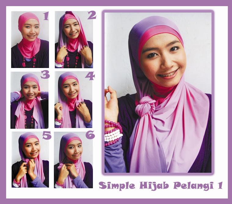 Simple Hijab Pelangi 1