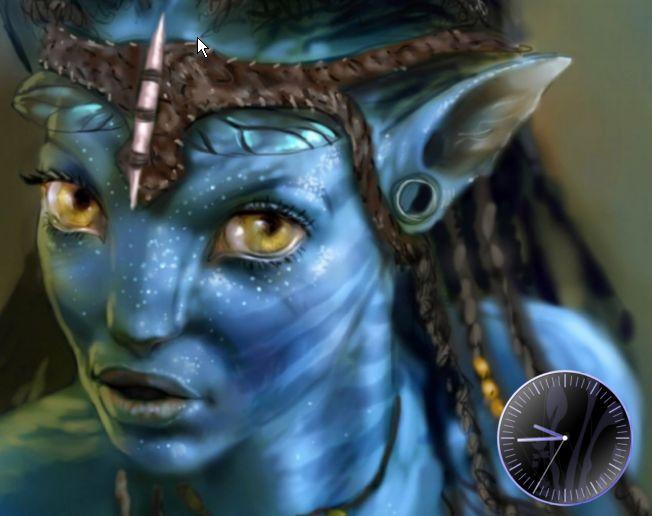 future technology 3d movie avatar screensaver