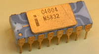 First Intel  microprocessor 4004