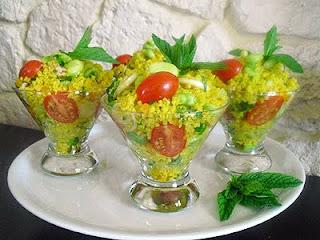 Salade de boulgour au jus d'agrumes