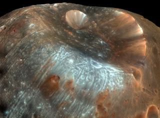 phobos: appearance artificial underneath worn surface