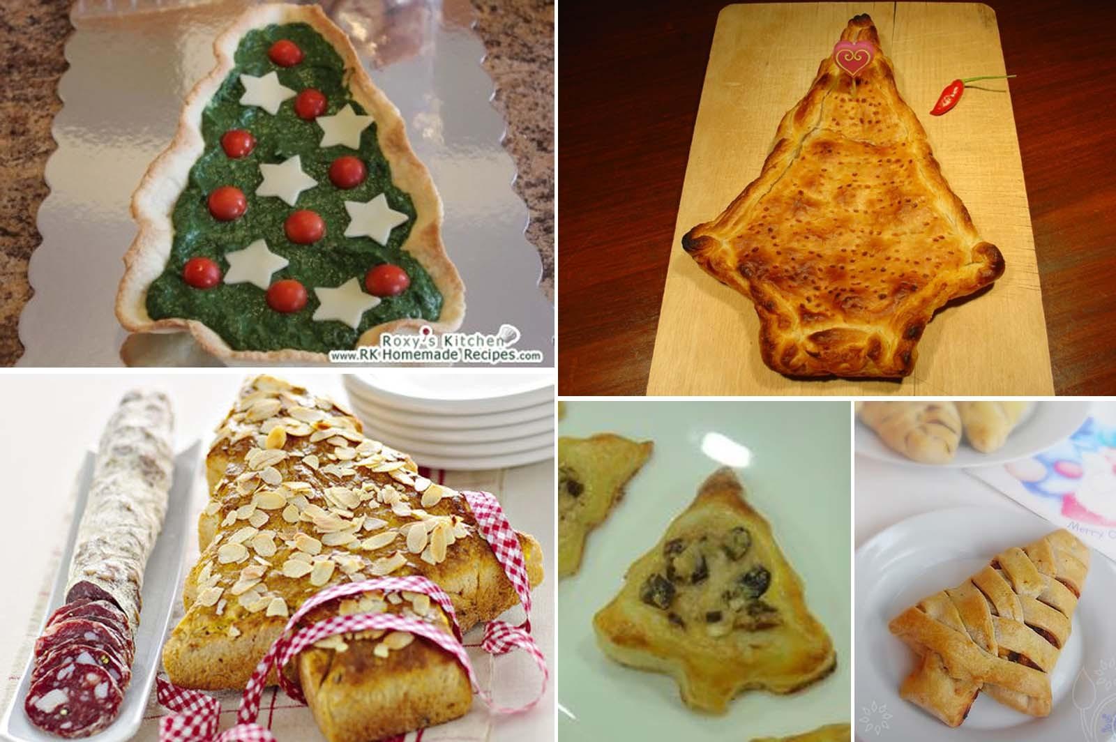 Torte salate a forma di albero di natale