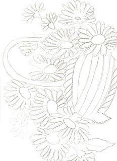 desenhos e riscos de flores