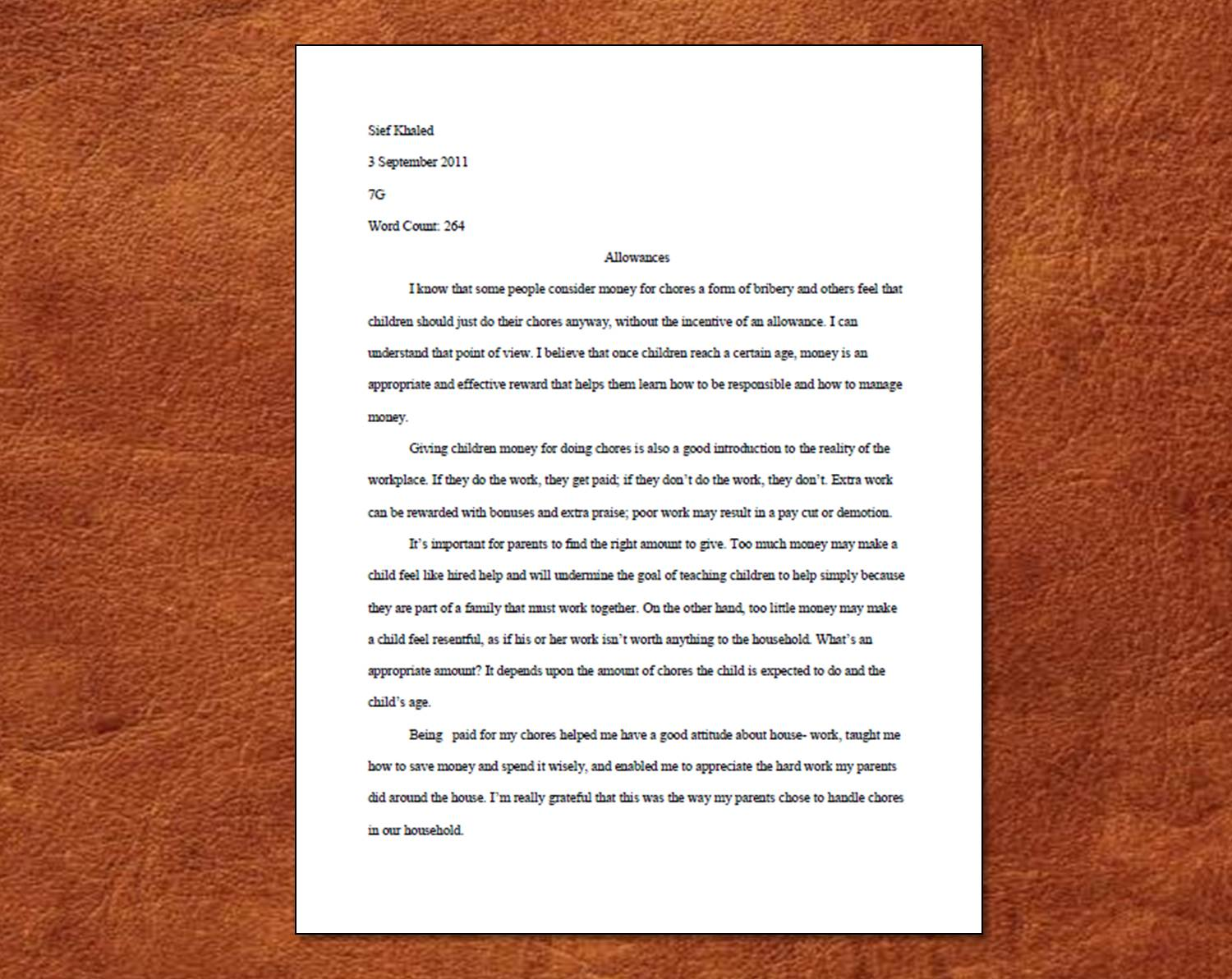 Proper heading format for college essay